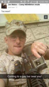 militarysoldierthreateninggaybars