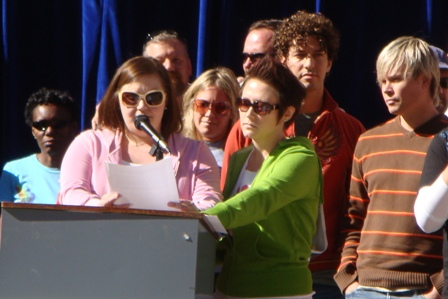 lesbians speaking at marriage support rally