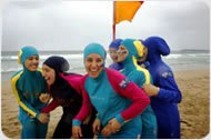 muslim women wearing athletic swimsuits
